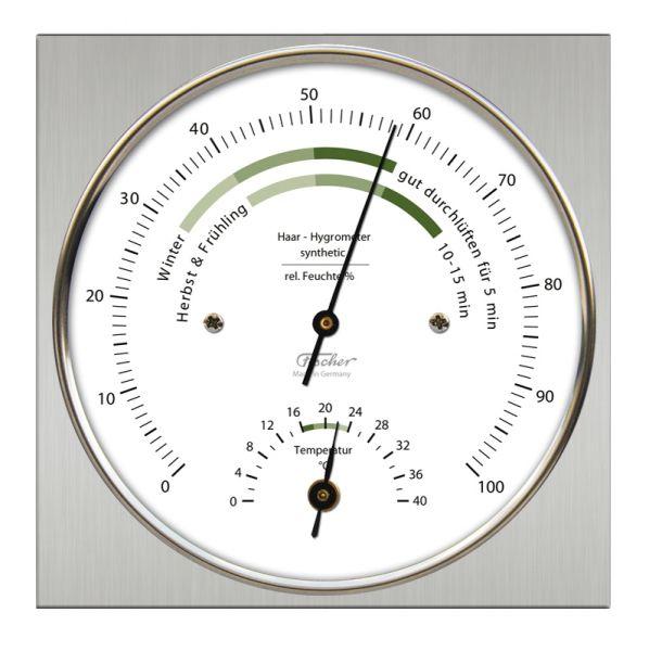 1220-01 | Fischer Wohnklima-Hygrometer mit Thermometer