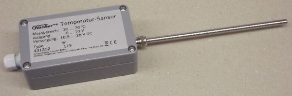 Sensors for temperature PT 100 1/3 DIN