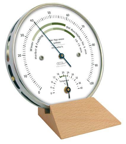 122.01HT   Fischer Wohnklima-Hygrometer mit Thermometer