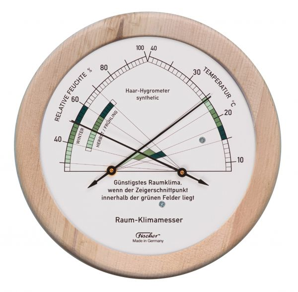 1222-09 | Zirben Wohnklima-Hygrometer mit Thermometer
