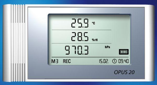 LAN-Datenlogger OPUS20 THIP für Luftdruck, Luftfeuchtigkeit und Temperatur